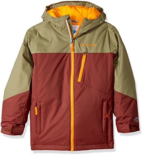 Columbia Boys Double Grab Jacket, Red Rocks/Sage, Small by Columbia