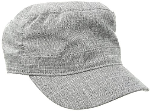 Life is good Women's Pleated Cadet Heart Hat, Heather Gray, Large/X-Large