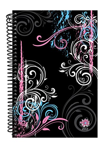"Bloom Daily Planners 2016-2017 Academic Year Daily Planner - Passion/Goal Organizer - Monthly Weekly Agenda Datebook Diary - August 2016 To July 2017 - 6"" x 8.25"" - Black"