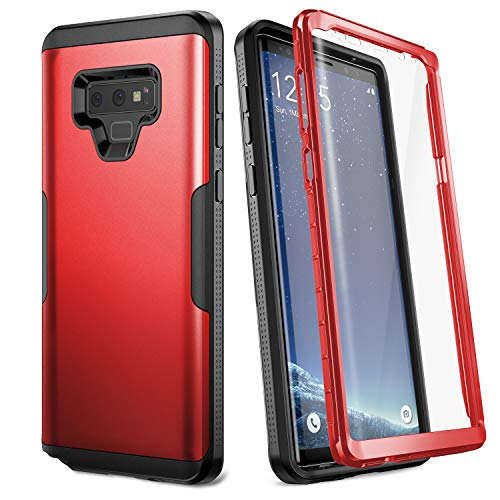 YOUMAKER Case for Galaxy Note 9, Full Body Heavy Duty Protection with Built-in Screen Protector Shockproof Rugged Cover for Samsung Galaxy Note 9 (2018) 6.4 inch - Red/Black