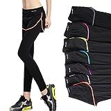 假两件运动瑜伽九分裤防走光健身速干弹力户外跑步紧身运动裤女