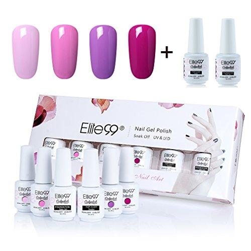 Elite99 Gelpolish Soak-off Gel Nail Polish UV LED Nail Art Gift Box Set of 5 8ml C021