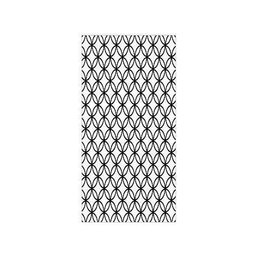 - Ylljy00 Decorative Privacy Window Film/Minimalist Monochrome Interlace Circle Pattern Modules Pattern/No-Glue Self Static Cling for Home Bedroom Bathroom Kitchen Office Decor Black White