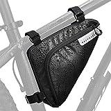 WOTOW Bolsa de bicicleta, Bolsa impermeable triángulo de ciclismo, Bike Storage Frame Front Tube Triángulo Resistente al Agua Bolsa de Ciclismo Correa en el sillín bolsa Bicicleta Accesorios Bolsa de almacenamiento de herramientas para ciclismo de montaña de carretera