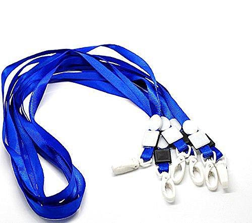 (Rockin Beads 20 Economy Kids Blue Neck Strap Lanyard for Id Card 16 Inch)