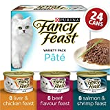 Fancy Feast Pate Assorted Wet Cat Food Variety Pack, 85 g (24 pack)