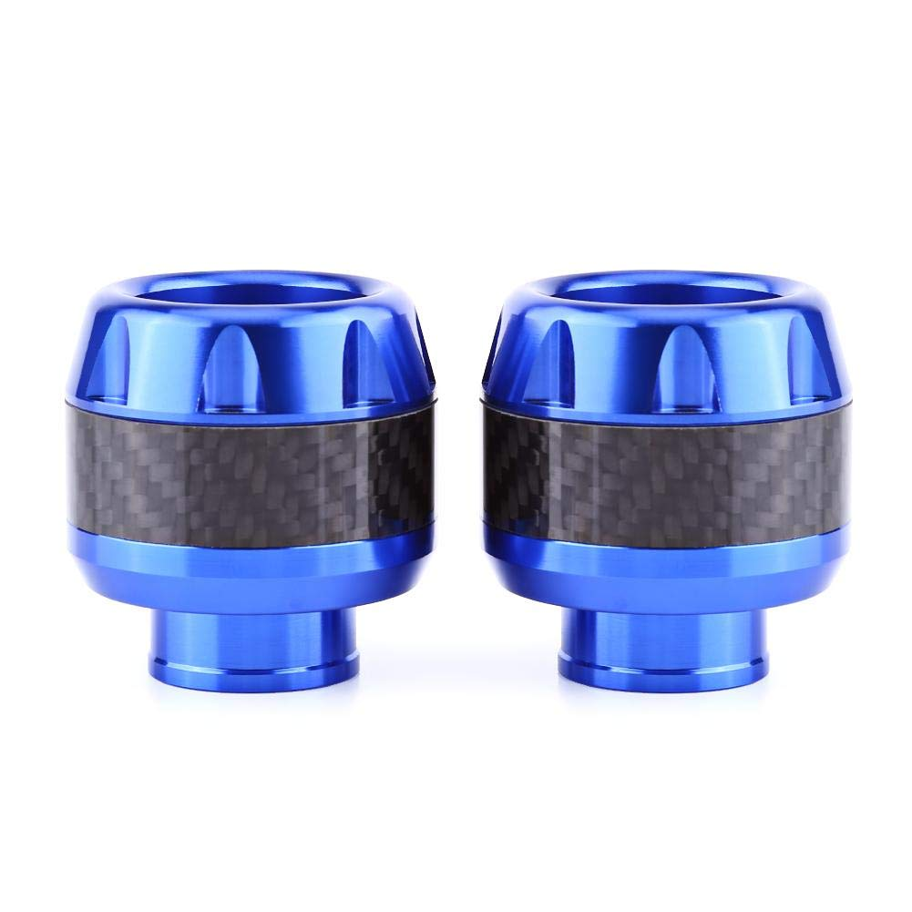 Anauto 1 Pair of Carbon Fiber Motorcycle Front Fork Frame Sliders Crash Protection Blue