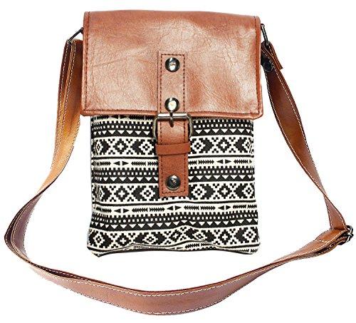 Bijoux De Ja Printed Cotton Fabric Mini Cross Body Shoulder Handbag (Exotic)