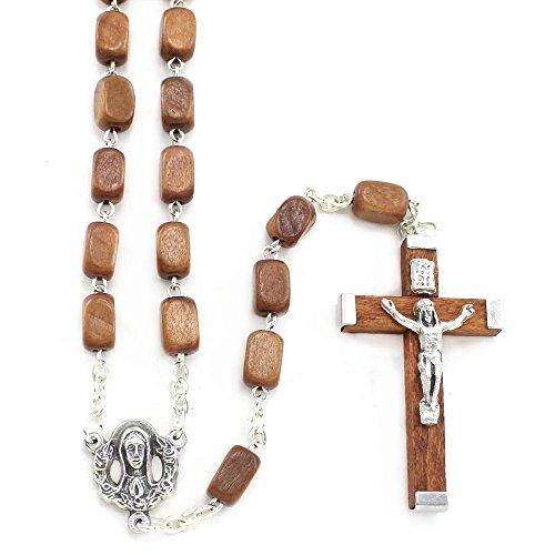 Rectangular Wooden Beads Rosary Rectangular Wood Beads