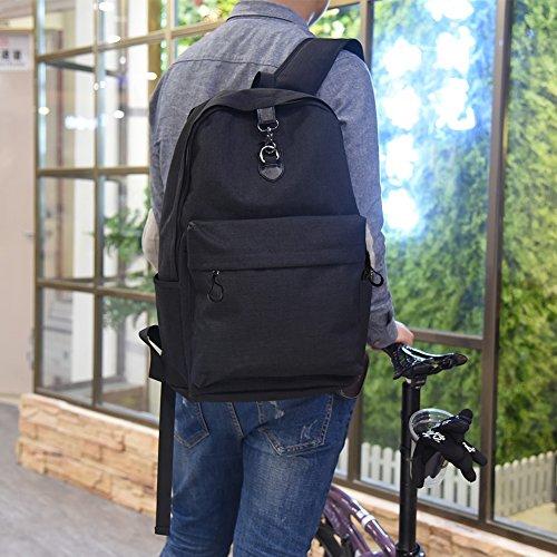 Stuo Waterproof Laptop Backpack USB Charging Port Lightweight Business Travel College Rucksack Bag Computer Backpack Men Women Student Black by Stuo (Image #1)