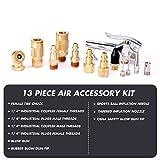 "WYNNsky 1/4"" NPT Air Blow Gun and Brass Air Accessory Kit, Air Compressor Connect Coupler/Plug - 13 Piece Air Tools Kit"