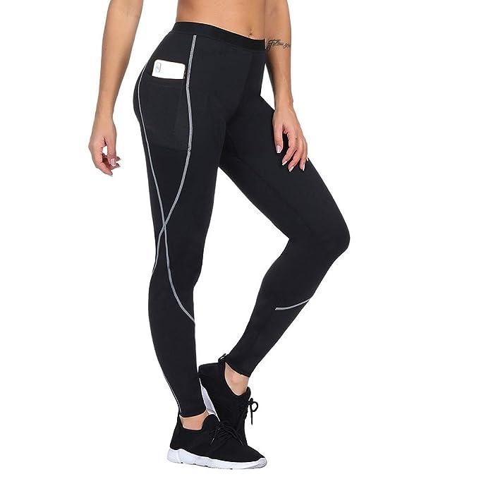 772e0628e25 FeelinGirl Women Sauna Weight Loss Slimming Neoprene Pants with Side Pocket  Hot Thermo Fat Burning Sweat
