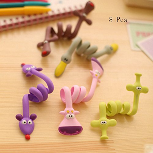6PCS Animal Cartoon Appearance Cute Frog Pink Rabbit Cat Bears bird Cable Tie Cord Organizer Headset Headphone Earphone Wrap Winder/ Fixer Holder/cord Manager/cable Winder