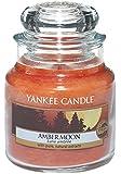 Yankee candle 1315049E Amber Moon Candele in giara piccola, Vetro, Arancione, 6.3x6.2x8.6 cm