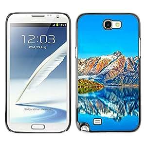 // PHONE CASE GIFT // Duro Estuche protector PC Cáscara Plástico Carcasa Funda Hard Protective Case for Samsung Note 2 N7100 / Hermosos paisajes de montaña /