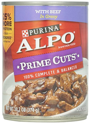 Alpo Prime Cuts in Gravy Canned Dog Food, Beef, 13.2 oz