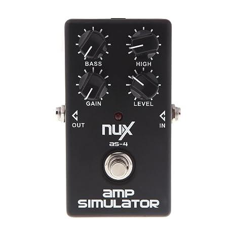 Nux CH de 3 Guitarra eléctrica Pedal de efecto chorus Bellas BBD alta calidad True Bypass