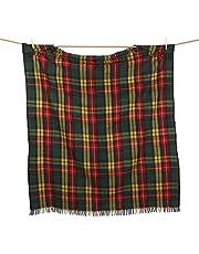 Grote Schotse Edinburgh alle wol gerecycled wol Tartan deken gooien /picknick tapijt