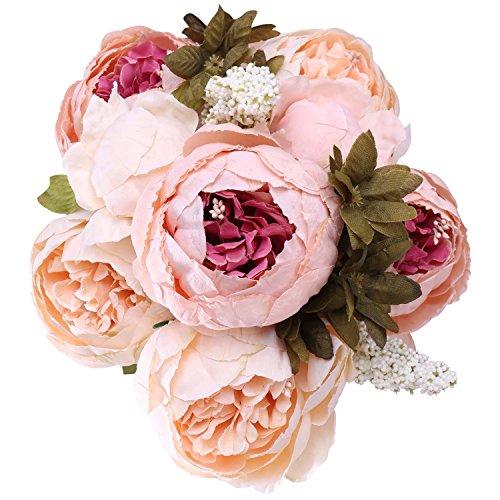 StarLifey Artificial Flowers Silk Peonies fake Flower Arrangement Decorations Romantic Bride Wedding Holding Bouquet