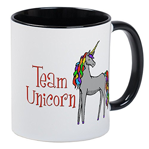 CafePress - Team Unicorn Rainbow Mug - Unique Coffee Mug, Co