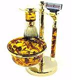 Harry D Koenig & Co 5 Piece Shave Set for Men, Tortoise