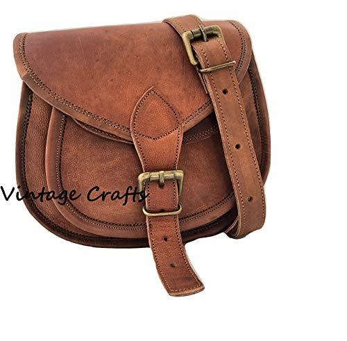Leather Women's Hippe Leather Purse Crossbody Shoulder Bag Travel Satchel Handbag Bag