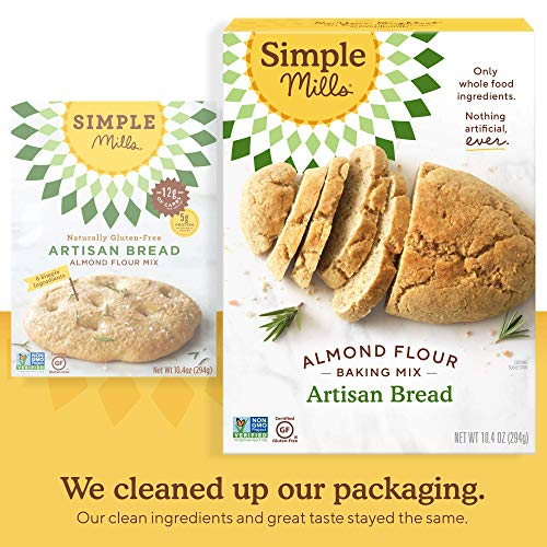 Simple Mills Almond Flour Baking Mix, Gluten Free Artisan Bread Mix, Made with whole foods, 3 Count (Packaging May Vary) 4