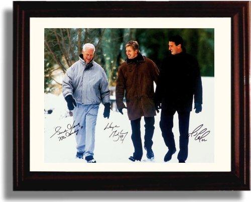 Framed Gordie Howe, Wayne Gretzky, and Mario Lemieux Autograph Replica Print -