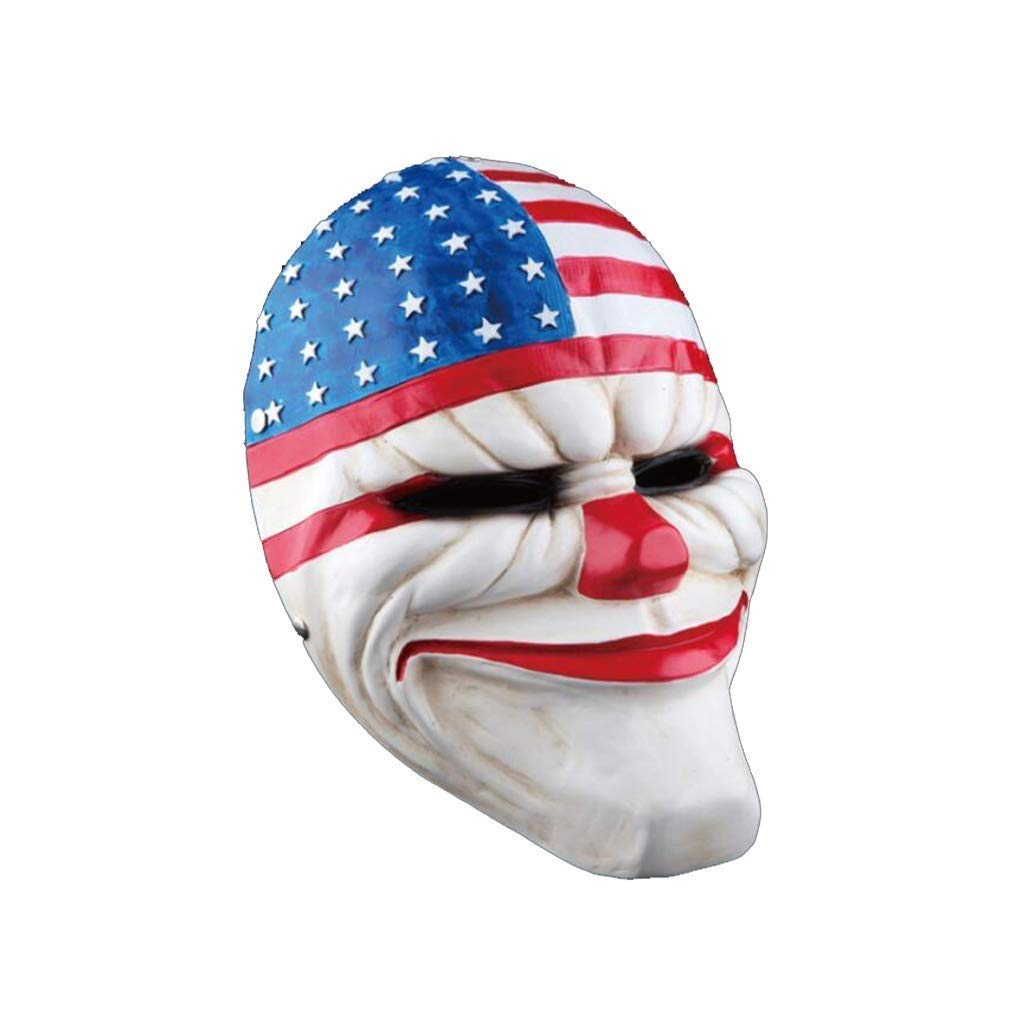 Halloween Cosplay PVC Mask Horror Clown Mask Pay Day Halloween Theme Party Grimace Mask