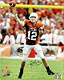 Athlon CTBL-014887 Colt McCoy Signed Texas Longhorns 16 x 20 Photo Orange Jersey Passing - Tri-Star Hologram