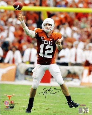 Athlon CTBL-014887 Colt McCoy Signed Texas Longhorns 16 x 20 Photo Orange Jersey Passing - Tri-Star Hologram by Athlon