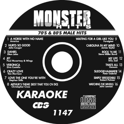 Monster Hits 70's & 80's Male Hits 1147 (Monster Hits Karaoke)