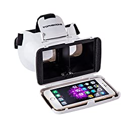 "3D VR Glasses,Topmaxionsâ""¢ 3D Virtual Reality Mobile Phone 3D Movies for Apple Phone 6s/6 plus/6/5s/5c/5 Samsung s5/s6/note4/note5 and Other 3.5\"