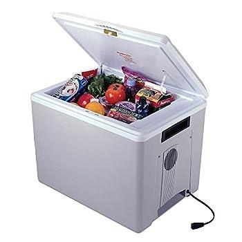 Image of Compact Refrigerators Koolatron P75 36-Quart Kool Kaddy Electric Cooler/Warmer, Light Grey