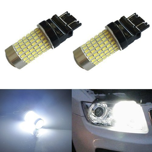 JDM ASTAR 1200 Lumens Extremely Bright 144-EX Chipsets 3056 3156 3057 3157 LED Bulbs with Projector , Xenon White - 07 Ford F150 Projector