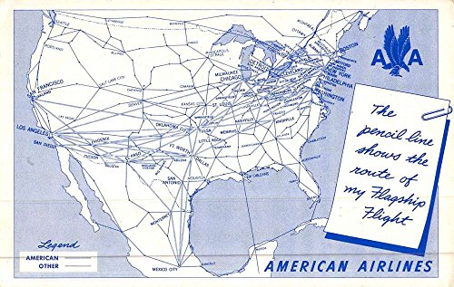 american-airlines-united-states-route-map-antique-postcard-k46216