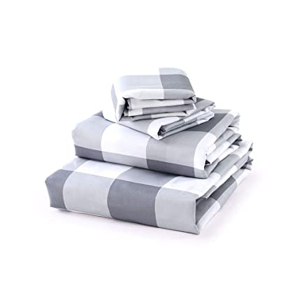 Luxe Bedding Sets   Queen Sheets 4 Piece, Flat Bed Sheets, Deep Pocket  Fitted