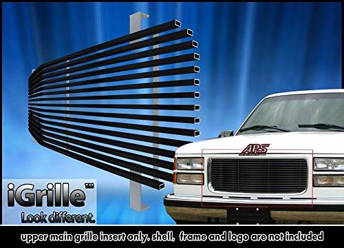 1998 Black Billet Grille (Black Stainless Steel eGrille Billet Grille Grill For 94-99 GMC Sierra Pickup/Suburban/Yukon)