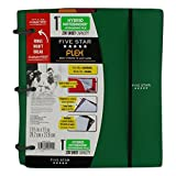 Five Star Flex Hybrid Notebinder +Expanding File 1-inch 230 sheet capacity, 11.5 x 11 inches, Notebook and Binder All-in-One, (X-563) (Green)