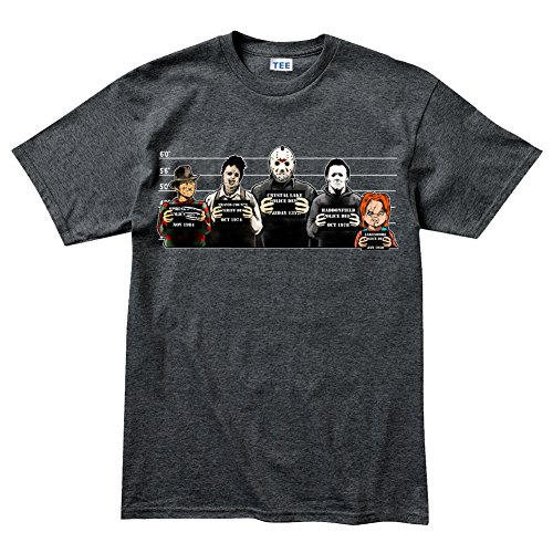 Customised_Perfection The Usual Horror Suspects Halloween T Shirt DHG M