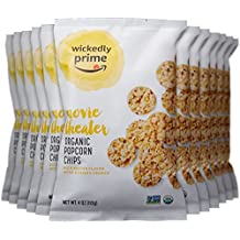 Wickedly Prime Organic Popcorn Chips, Movie Theater, 4 Ounce (Pack of 12)