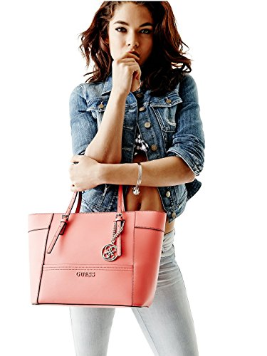 c7dcd79bff94 Guess Women s Delaney VY453522 Coral Small Classic Tote - Import ...