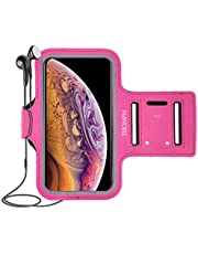 Triomph Waterproof Cell Phone Armband Case for iPhone X Xs XR,8 Plus,8,7,6S, iPod,Samsung Galaxy S9,S8,S7 with Key Cards Money Holder for Running, Walking, Hiking 6.5''