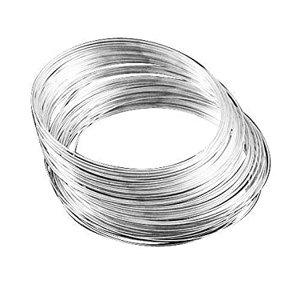 Pack Of 20 X Silver Stainless Steel 1mm Memory Wire Bracelet Loop
