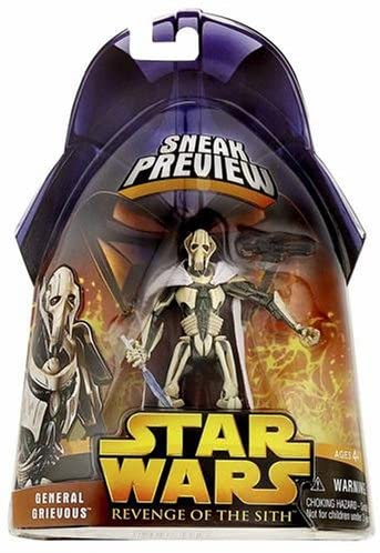 Amazon Com Star Wars Revenge Of The Sith Sneak Preview Action Figure General Grievous Toy Toys Games