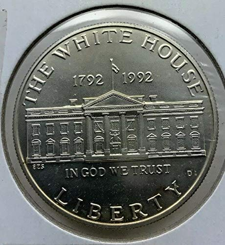 1992 D White House Commemorative Silver Dollar $1 Brilliant Uncirculated US Mint (1992 White House 200th Anniversary Proof Silver Dollar)