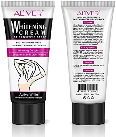Skin Lightening Cream 2 Pack, Underarm Whitening Cream, Effective for Lightening & Brightening Armpit, Knees, Elbows, Sensitive & Private Areas, Whitens Nourishes Repairs & Restores Skin