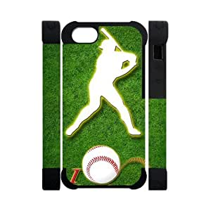 Canting_Good Baseball Custom Dual-Protective 3D Polymer Case Shell Skin for IPhone 5