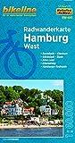 Hamburg West (RW-HH1): Maßstab 1:60.000, wetter- und reißfest (bikeline Radwanderkarte)