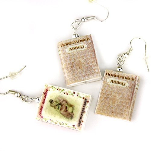 NORTHANGER ABBEY Jane Austen Polymer Clay Mini Book Earrings by Book Beads Choose Your Earring Hardware Pick Your Edition